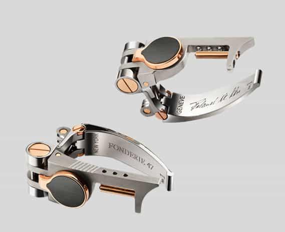 ak47 jewelry ak47 jewellery Fonderie47 connectible steel cufflinks