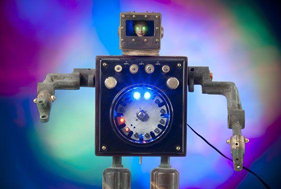 creepy doll faced robot