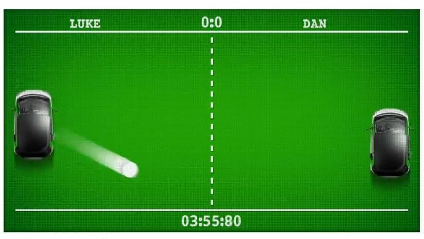 smart fortwo eball car pong video screen