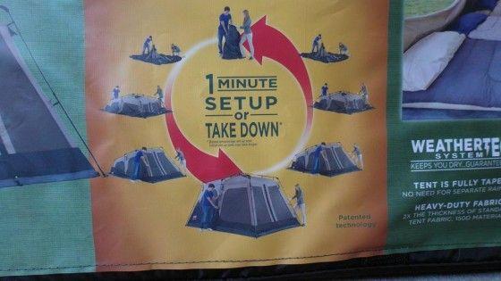 1 minute Coleman Tent