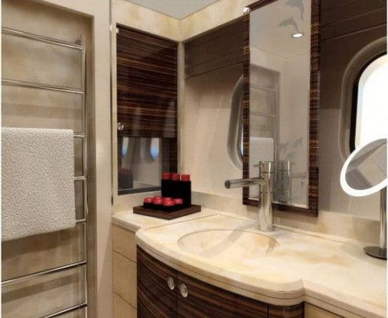 Luxury bathroom on Mulder 72 Yacht