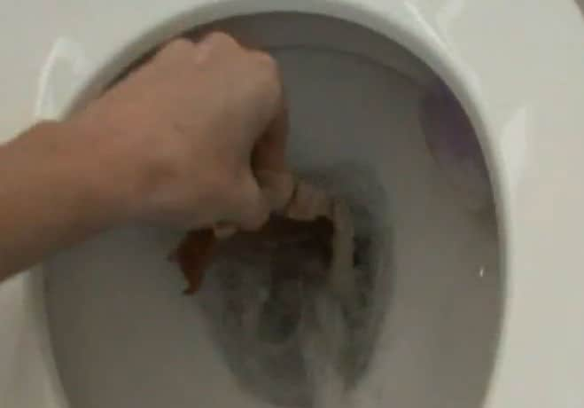 how to basic cooking smashing egg steak in toilet