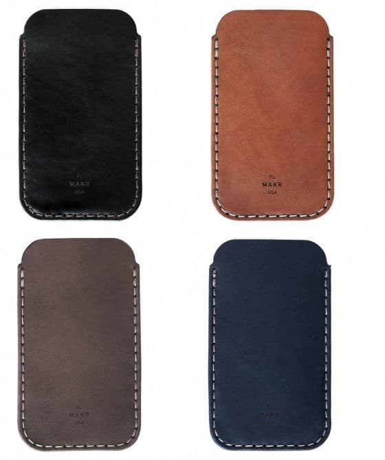 MAKR iPhone 5 leather sleeves