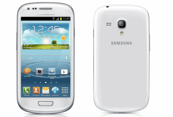 Samsung Galaxay S3 Mini front and back