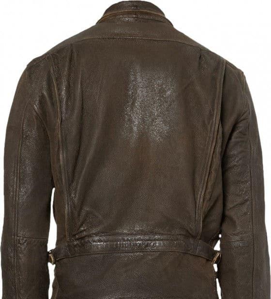 James Bond Skyfall brown leather jacket back