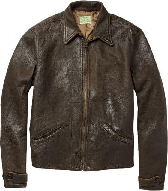 James Bond Skyfall brown leather jacket front