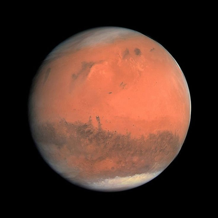 mars from space