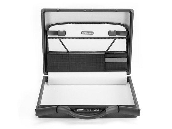 Inside of Carbon Fiber Briefcase