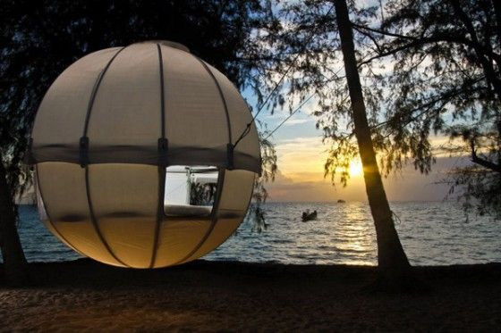 Suspended Cocoon Tree Tent & Cocoon Tree Tent - Like a Tree House But Better - Unfinished Man