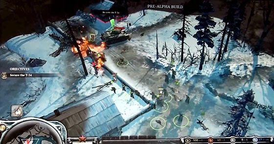 company of heroes2 pre alpha footage