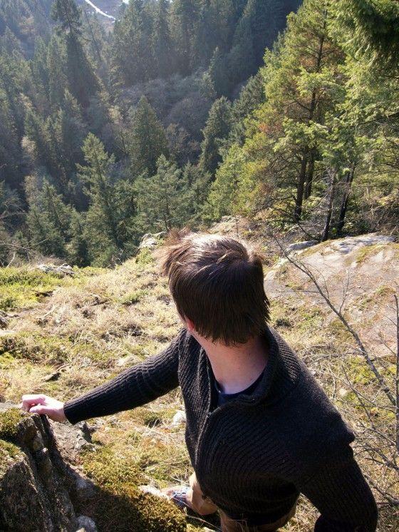wearing tadgear on a mountain