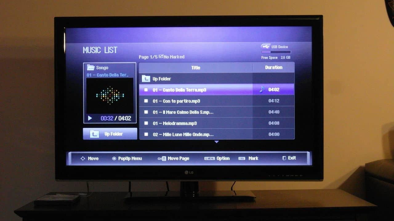 LG 42LS3400 TV Music Mode