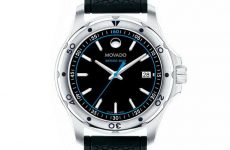Movado Series 800 dive watch blue 3-hand