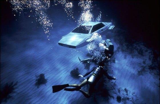 underwater bond car