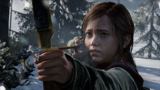 ellie firing a bow