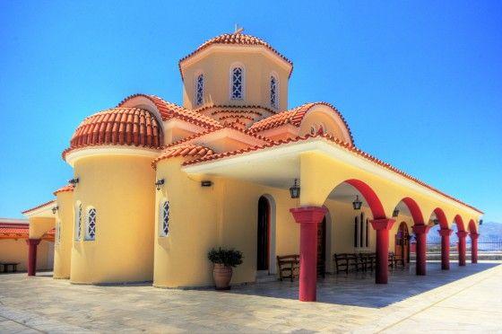 Crete, Greece colorful church