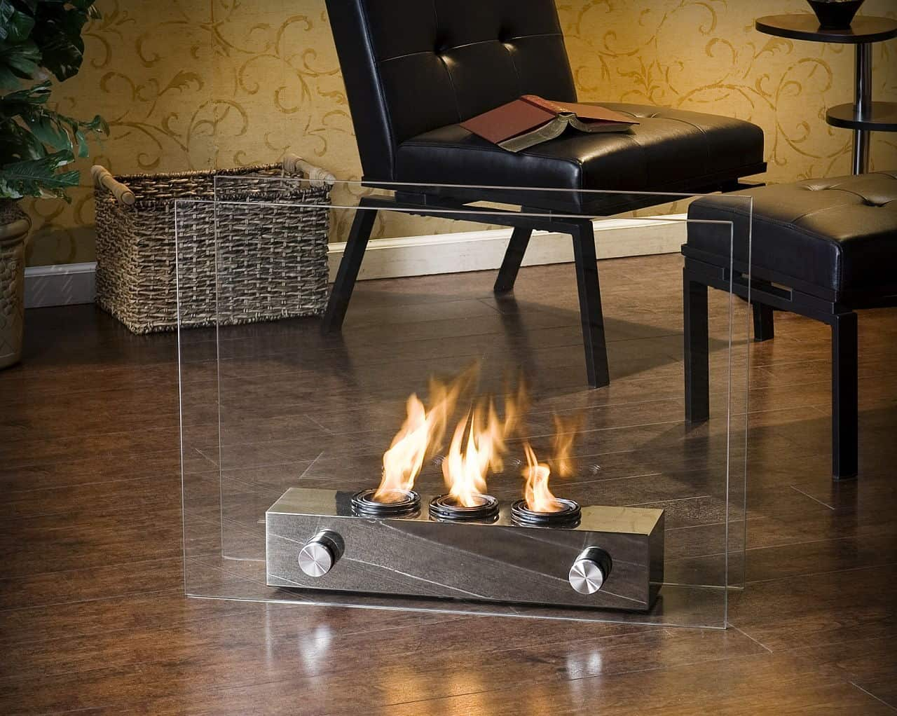 Indoor/Outdoor portable fireplace