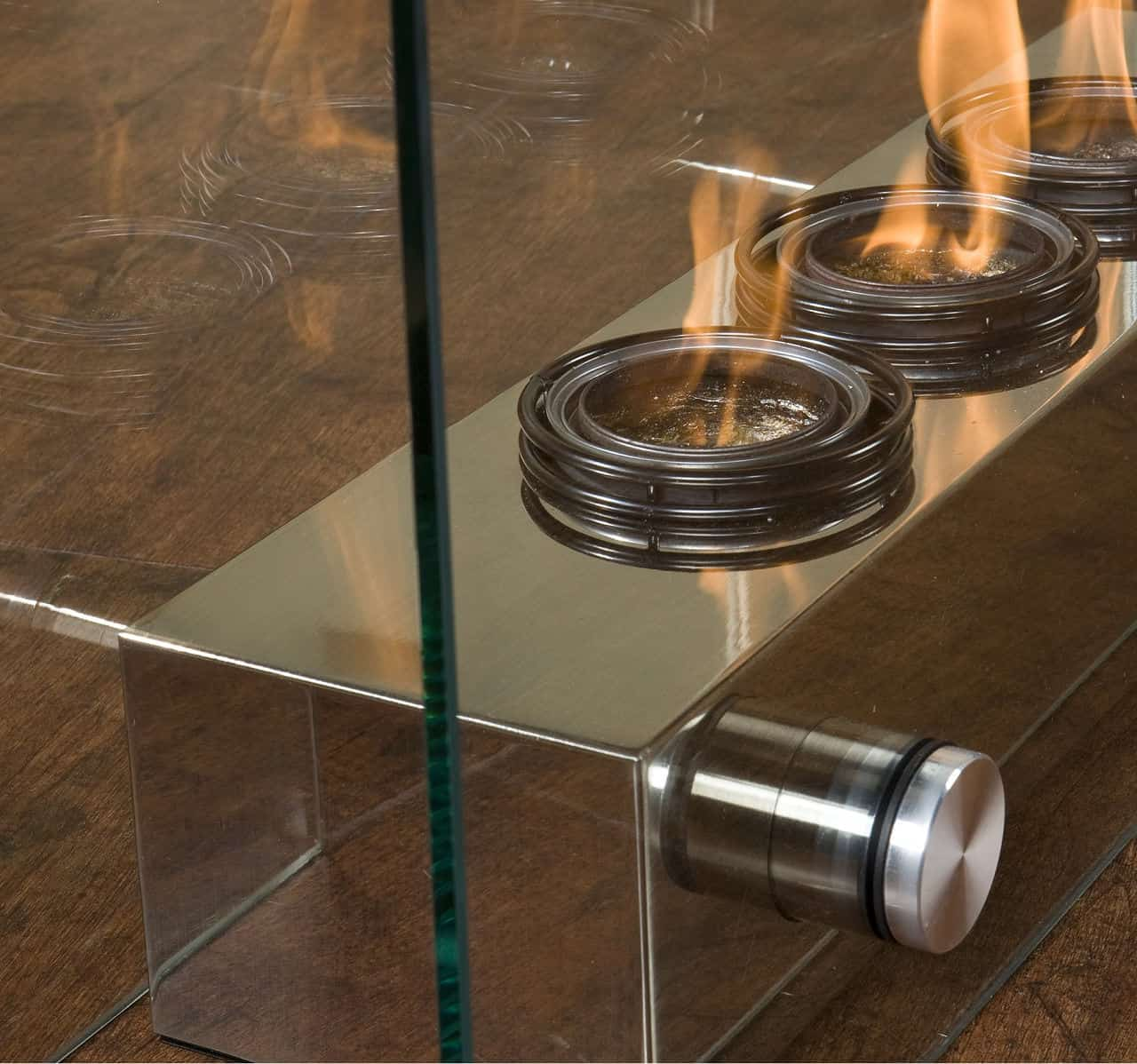 Indoor/Outdoor portable gel fireplace