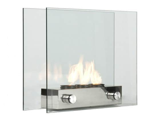Sleek looking portable gel fireplace