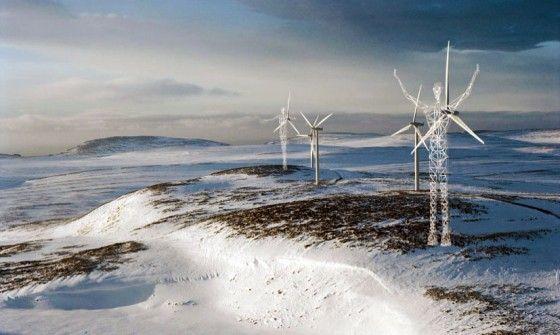 frozen norway landscape
