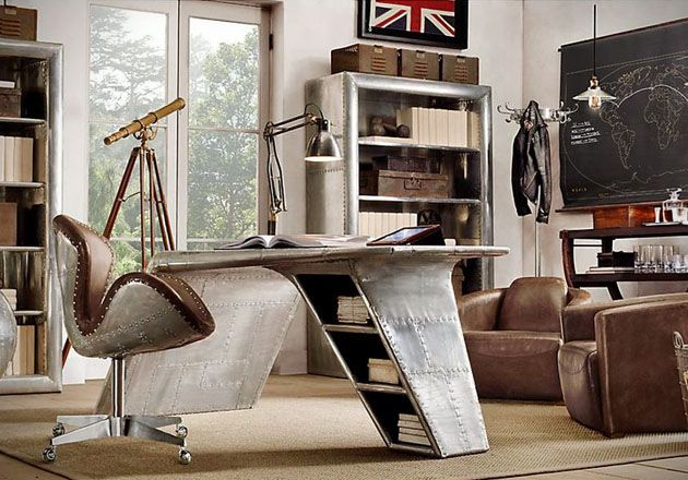 Aviator Wing Desk Inspired By Ww2 Fighter Planes