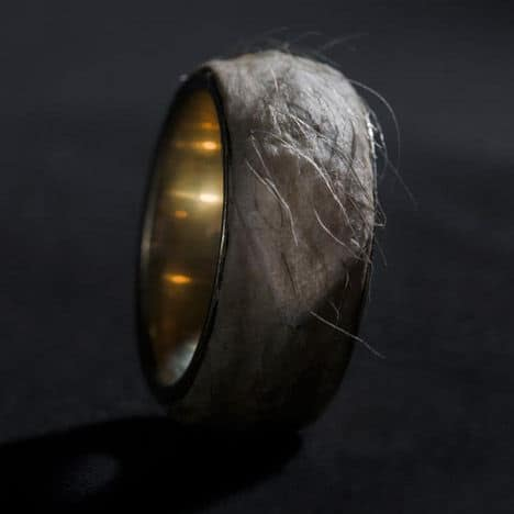 sruli recht forget me knot human skin ring