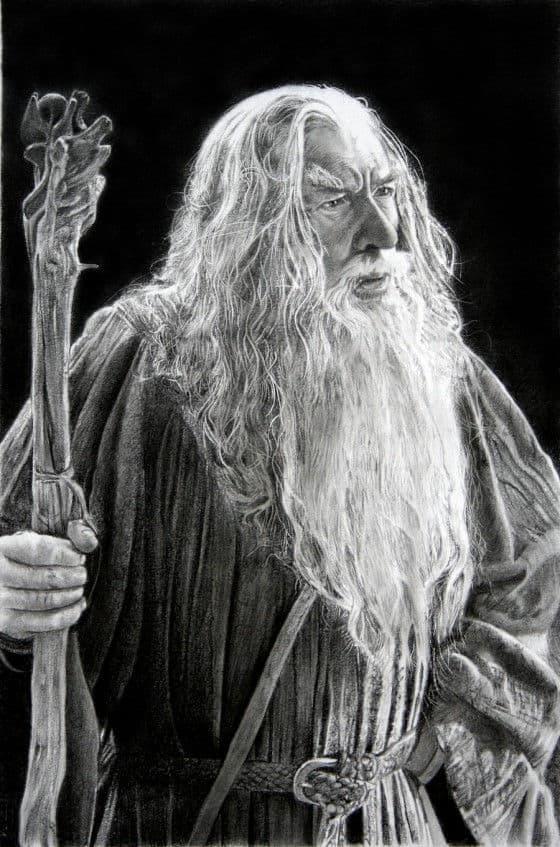 Gandalf pencil art by Franco Clun