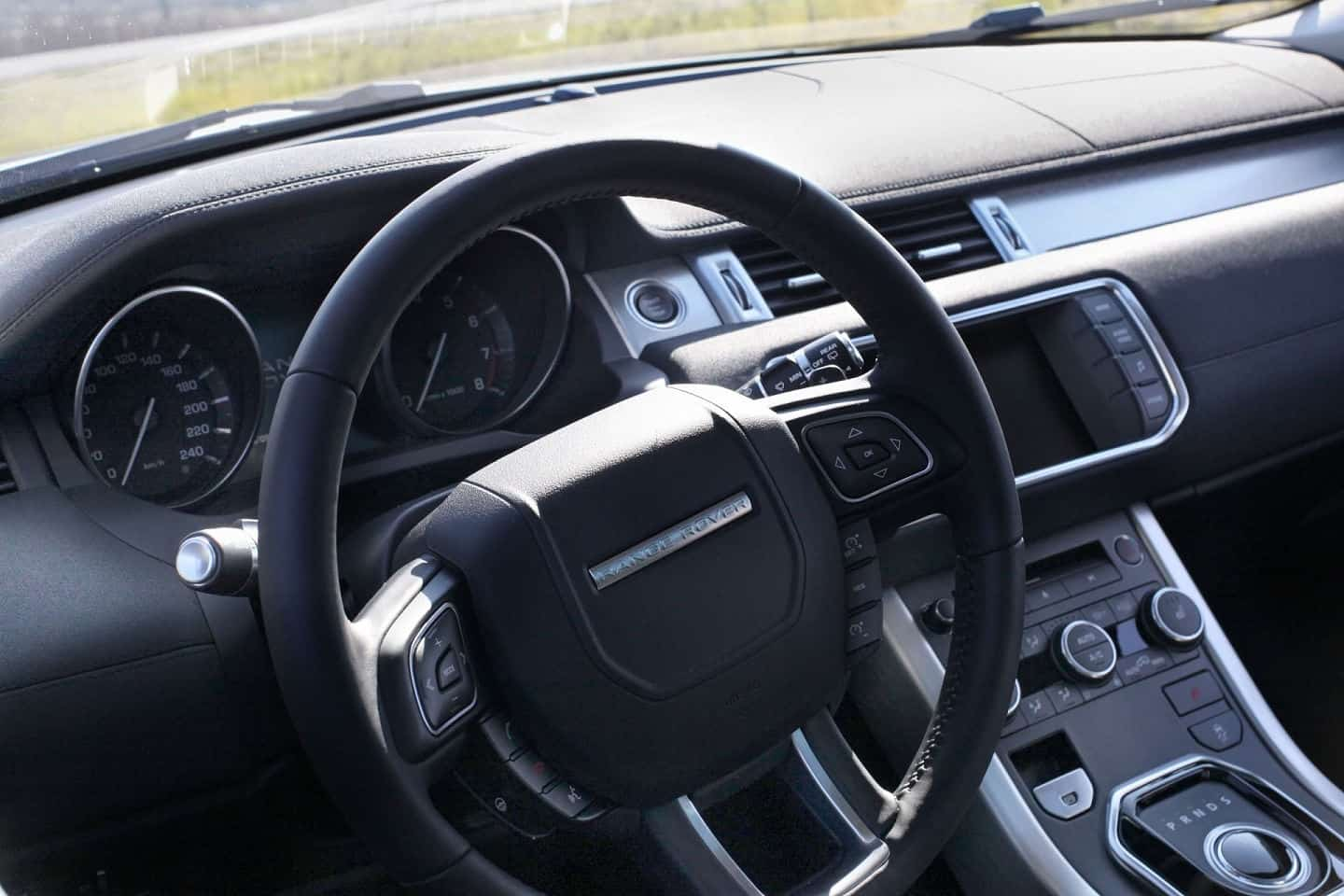 2013 Range Rover Evoque steering wheel