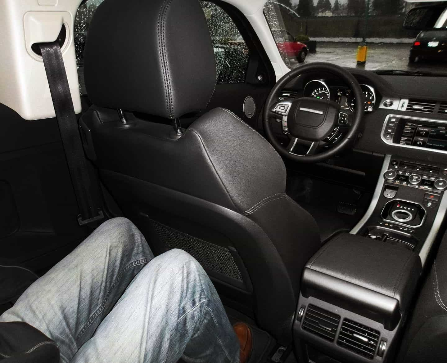 2013 Range Rover Evoque Coupe rear leg room