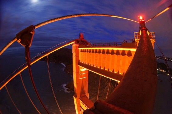 fish eye view bridge