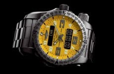 Breitling Emergency II watch yellow dial