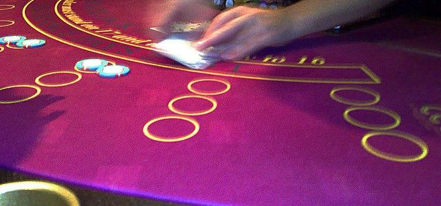 Dealing cards at a casino