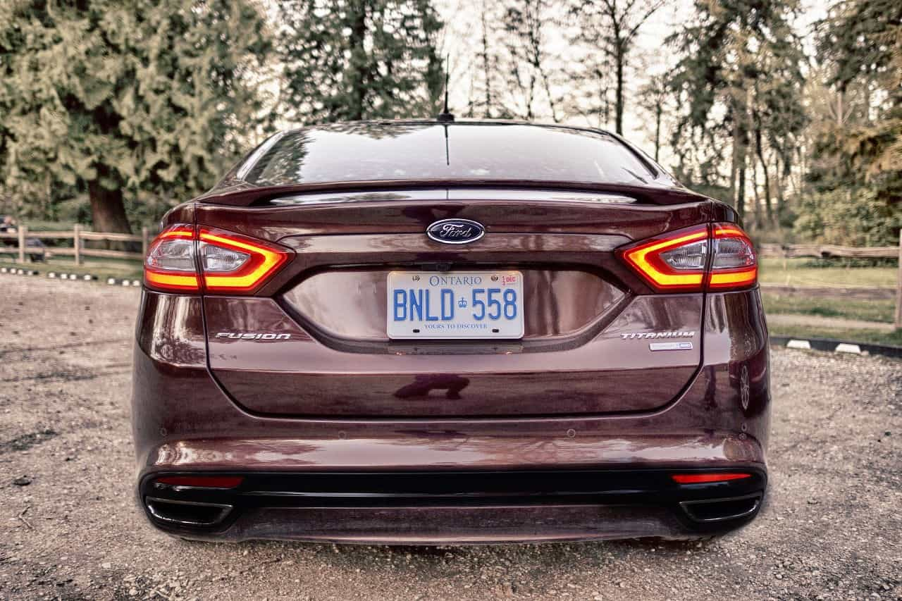 2013 Ford Fusion Titanium AWD rear lights