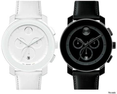Movado Bold Black Chronograph Watches