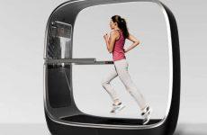 voyager smart treadmill woman running