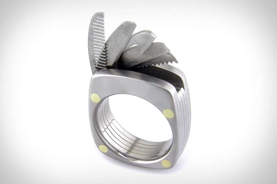 Titanium Man Ring Micro Tools On Your Finger