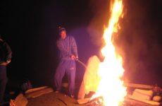 beach bonfire Tofino, Victoria