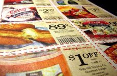 newspaper coupon clippings