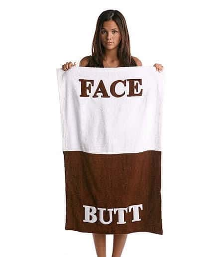 towel for butt and face