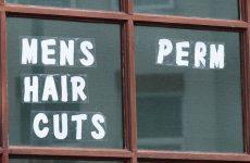 mens hair cut sign