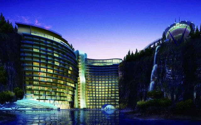 Songjiang hotel luxury cave hotel in china unfinished man for Ibiza hotel luxury 5 star