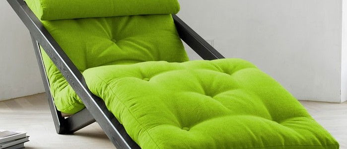 lime green comfortable figo futon lounge chair