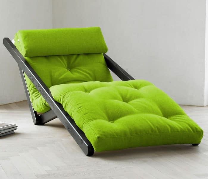 Lime Green Comfortable Figo Futon Lounge Chair
