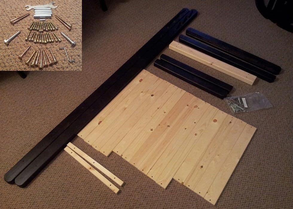 figo futon wood frame pieces