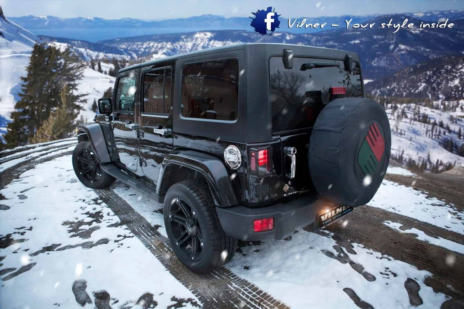 Vilner Tuned Jeep Wrangler Unlimited Sahara Unfinished Man Jk Leather Seats The Interior Is Where Most Upgrades Are Found Comes With Red White Stitching And Black On Door