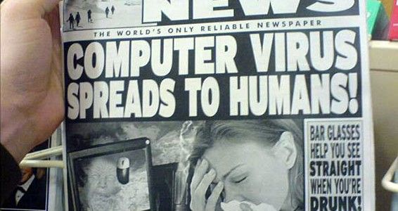 computer virus that infects humans