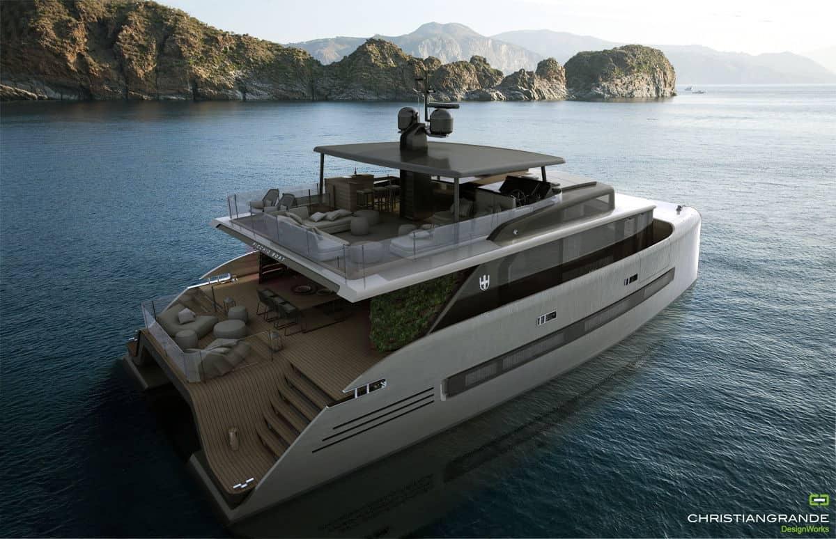 exterior of picchio boat