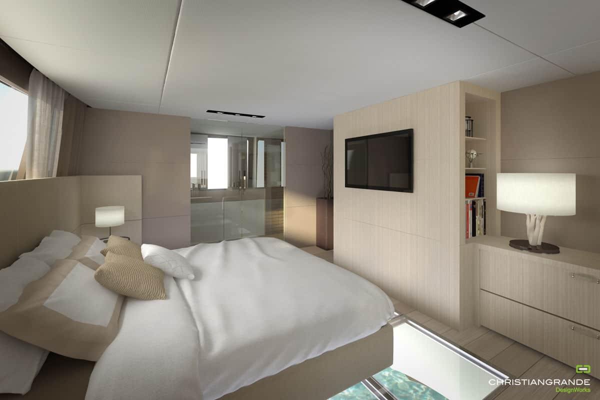 master bedroom picchio boat