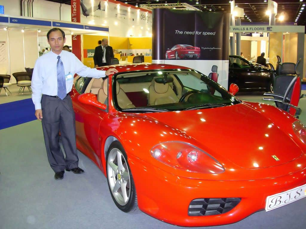 expensive car in show room