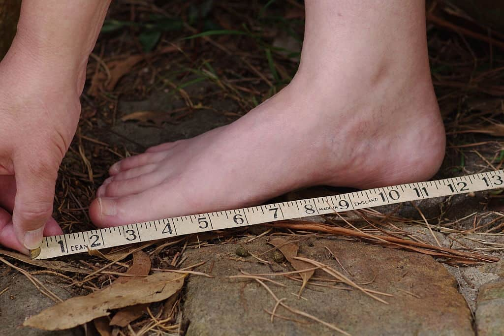 wrong shoe size